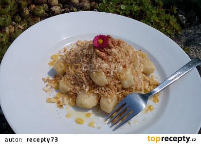 Bramborové šišky / noky s ořechovou strouhankou