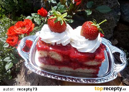 Jahodový dort - nepečený