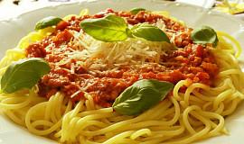 Květákovo-masová směs na špagety