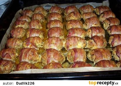 Plněné kuřecí rolky ve slanině