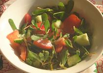 Salát ze šruchy zelné, okurek a rajčat