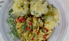 Šťouchané brambory se zeleninou z konce světa