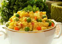 Tarhoňový salát s vejci