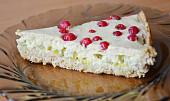 Zdravý rebarborový koláč s tvarohem