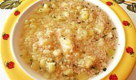 Cuketová polévka s kuskusem - pro nejmenší