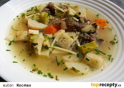 Hovězí polévka s masem a nudlemi (bez tuku)