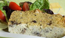 Jáhlovo-houbový nákyp se sardinkami