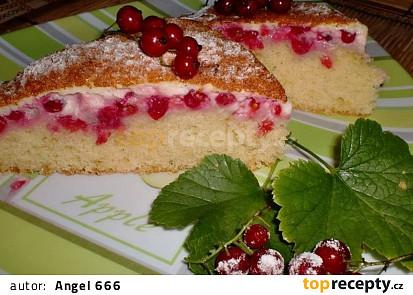 Rybízový koláč s vaječným krémem