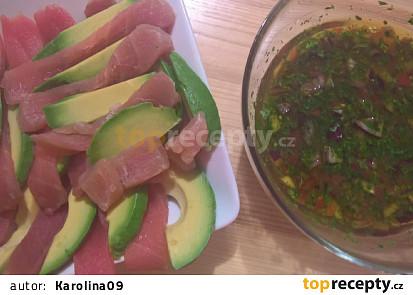 Tuna con guacamole en salsa de Karolina