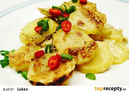 Zapečené brambory s masem a se smetanou
