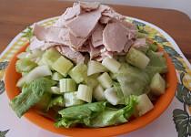 """""""Zelený"""" salát z řapíkatého celeru a salátové okurky"""
