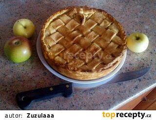 Americký jablečný pie   (rychlý a bez vajec)