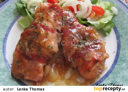 Třtinové kuře ve slanině
