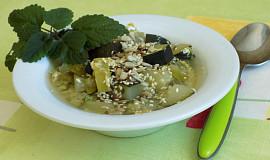 Cuketovo-pórová polévka