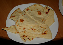 Naan chléb - pokus jedna