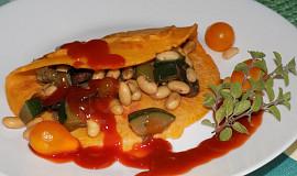 Rajčatová omeletka s cuketou