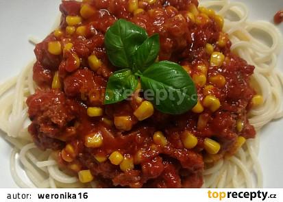Špagety s masovou směsí