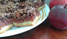 Tříbarevný hrnečkový koláč s jablky