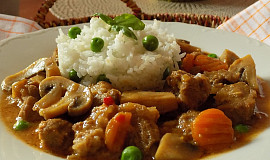 Vepřové maso se zeleninou na limetkách