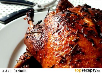 Pečená kachna s netradiční rebarborou a bramborovo-křenovým pyré
