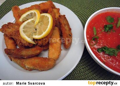 Smažené  kedlubnové hranolky s rajčatovým dipem