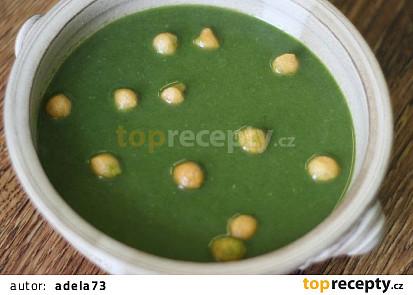 Špenátová polévka veganská