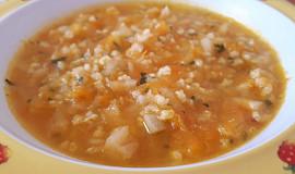 Zeleninová polévka s jáhlami - pro nejmenší
