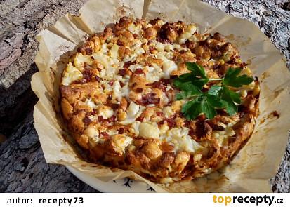 Slaný květákový koláč (květáková nádivka)
