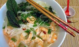 Thajská polévka s krevetami