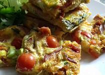Vaječná omeleta na plech