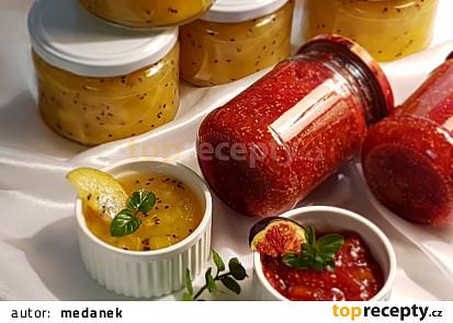 Džem ze žlutých kiwi a fíků z pekárny