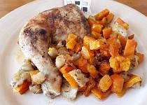 Kuřecí stehna pečená s podzimní zeleninou