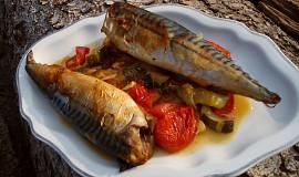 Makrela pečená na zelenině