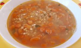 Pohanková polévka s červenou čočkou - pro nejmenší