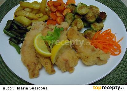 Křupavá ryba  s restovanou zeleninou