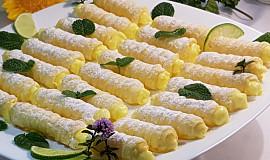 Mini trubičky s citronovým krémem