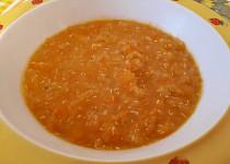 Mrkvová kaše s quinoa vločkami - pro nejmenší