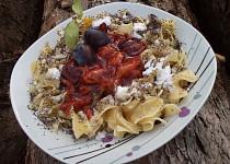 Švestkové těstoviny