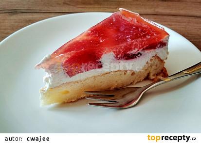 Tvarohovo-smetanový dezert s jahodami