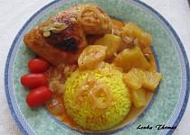 Ananaso-medová kuřecí stehýnka