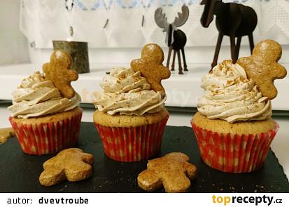 Perníkové cupcakes s krémem z mascarpone
