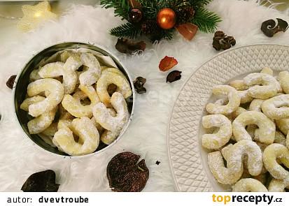 Vanilkové rohlíčky - lískooříškové