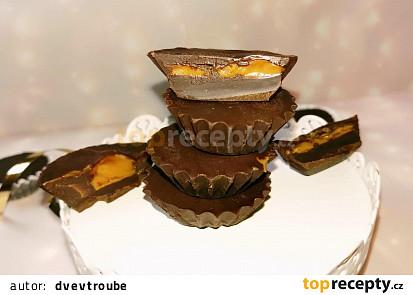 Čokoládové košíčky se sušenkovou pomazánkou Lotus