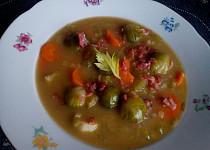 Kapustičková polévka se zeleninou a červenou čočkou