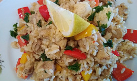 Kuře na hořčici s rýží