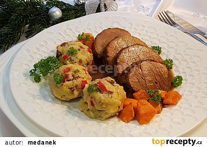 Vepřová plec s omáčkou dýňovo-zeleninovou