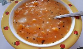 Dýňová polévka s bramborami - pro nejmenší