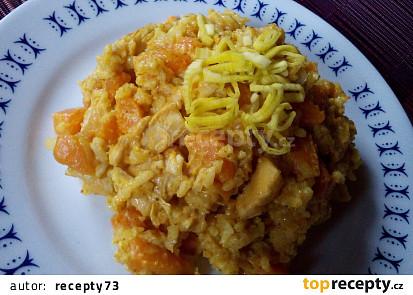 Dýňová rýže s kuřecím masem