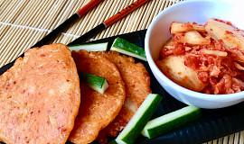 Korejské lívanečky s kimchi (kimči)