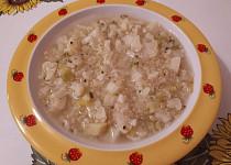 Květákovo-brokolicová polévka s quinoou - pro nejmenší